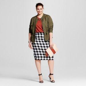 Plus skirt, plaid pencil skirt, plus pencil skirt